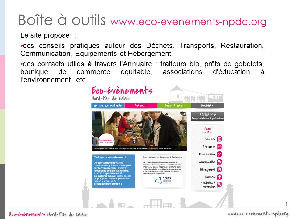 Boîte à outils www.eco-evenements-npdc.org