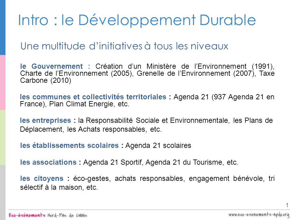 Intro : le Développement Durable