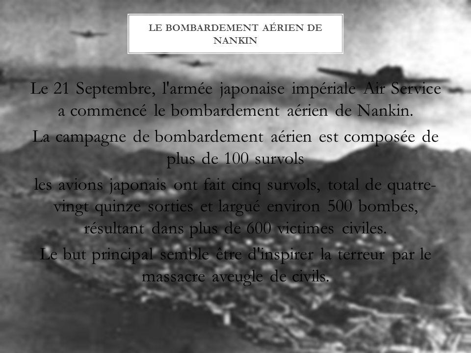 Le bombardement aérien de Nankin