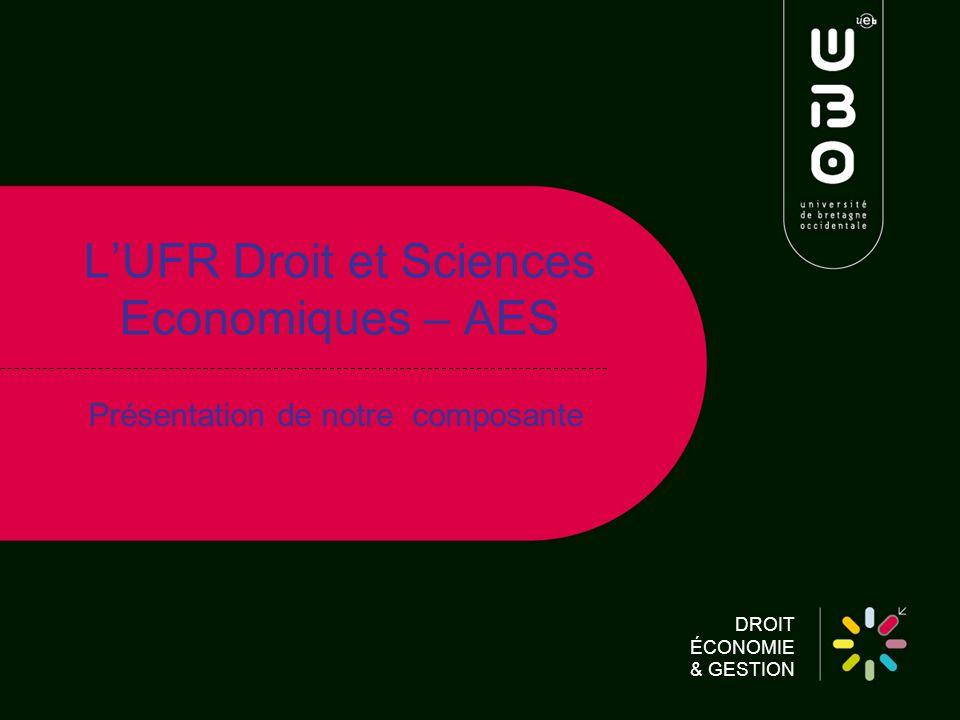 L'UFR Droit et Sciences Economiques – AES