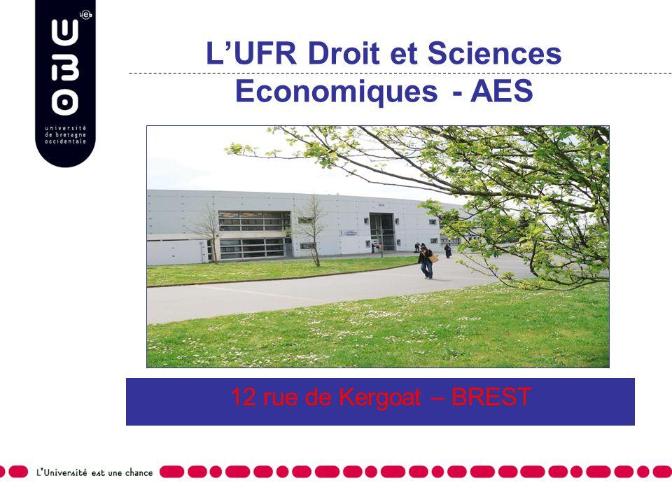 L'UFR Droit et Sciences Economiques - AES