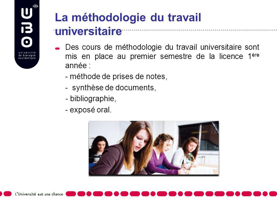La méthodologie du travail universitaire