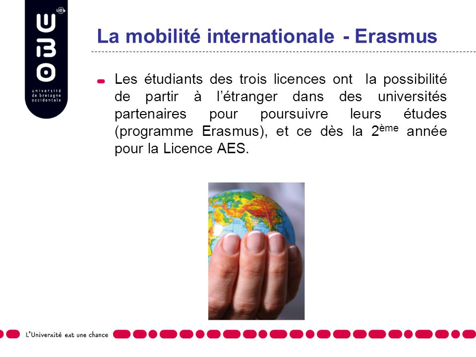 La mobilité internationale - Erasmus
