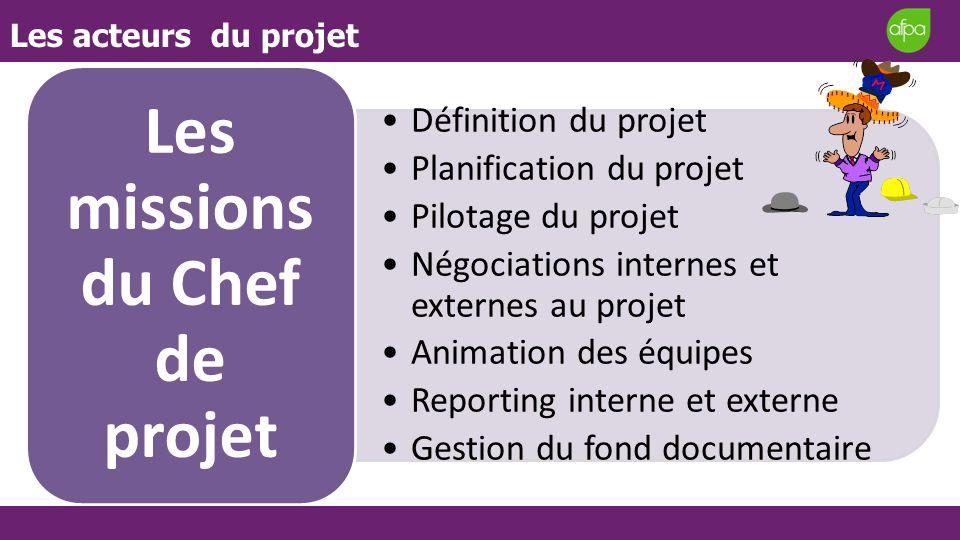 Les missions du Chef de projet