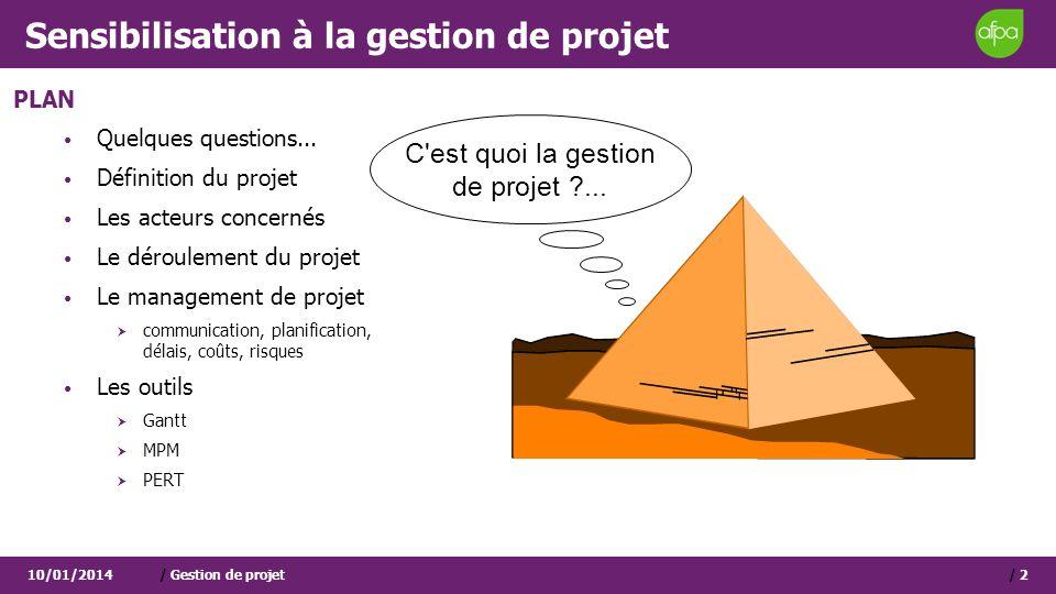 Sensibilisation à la gestion de projet