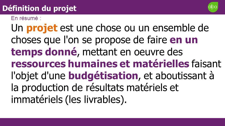 Définition du projetEn résumé :