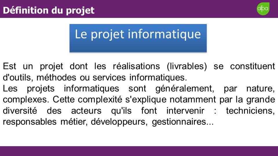 Le projet informatique