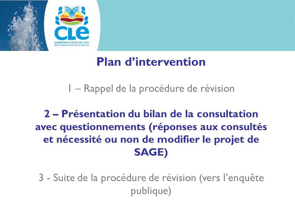 2 – Présentation du bilan de la consultation