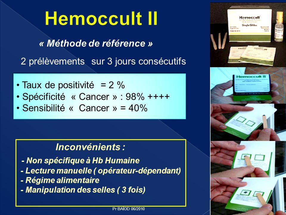 Hemoccult II - Non spécifique à Hb Humaine « Méthode de référence »