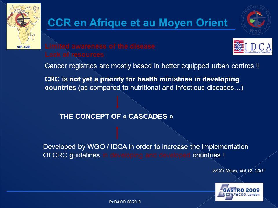 CCR en Afrique et au Moyen Orient