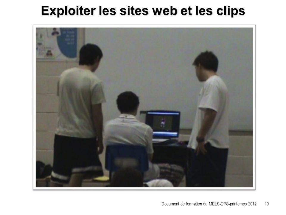 Exploiter les sites web et les clips