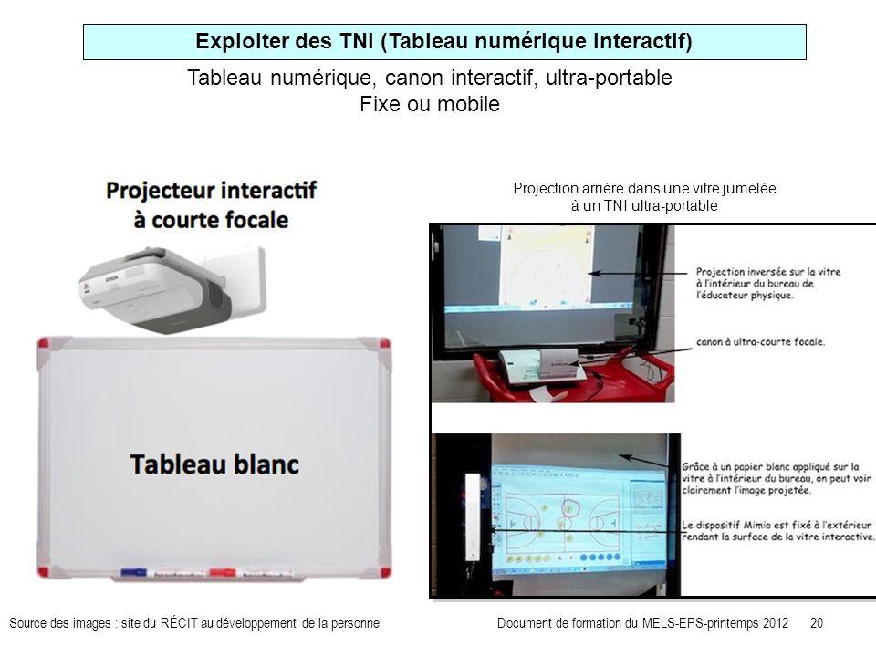 Exploiter des TNI (Tableau numérique interactif)