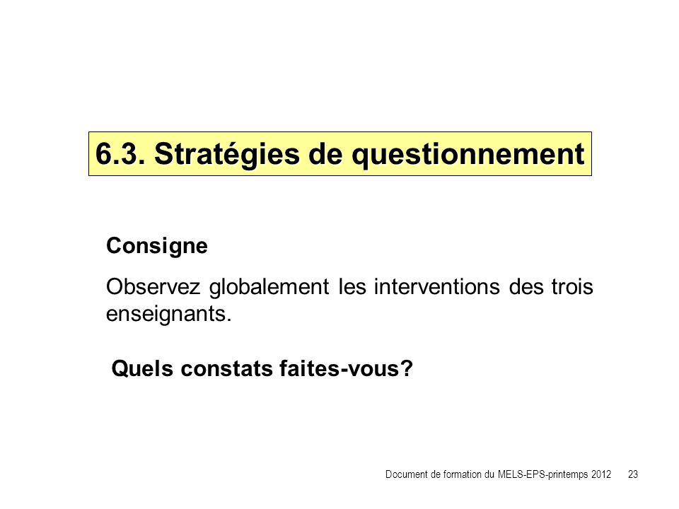 6.3. Stratégies de questionnement
