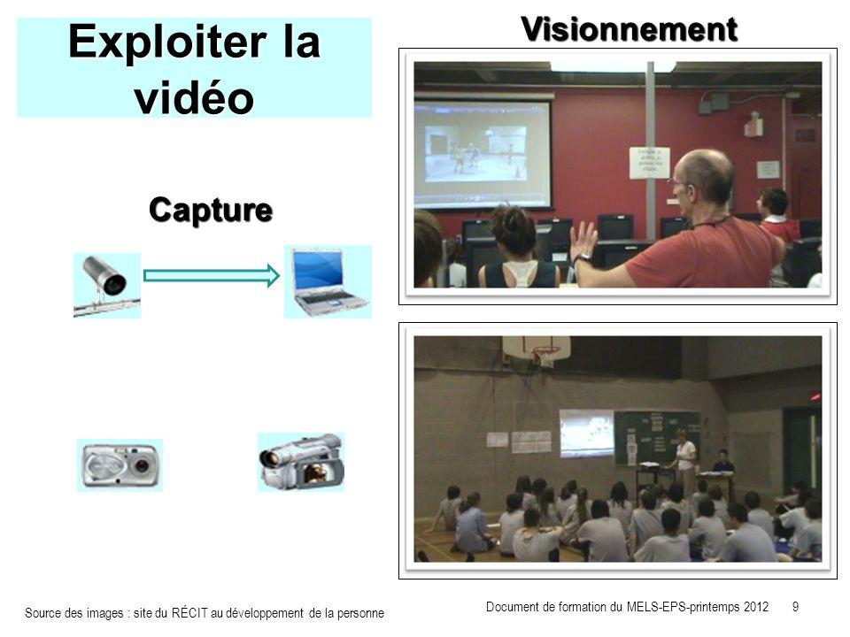 Exploiter la vidéo Visionnement Capture