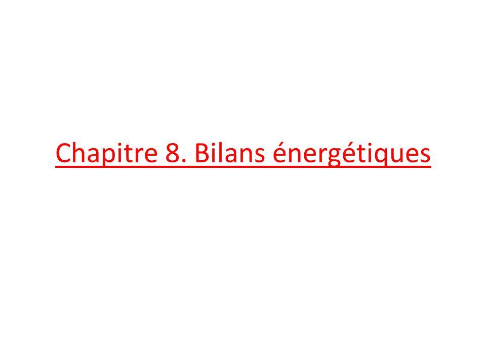 Chapitre 8. Bilans énergétiques