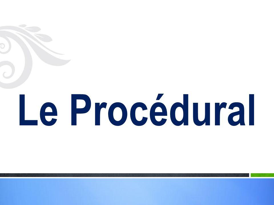 Le Procédural