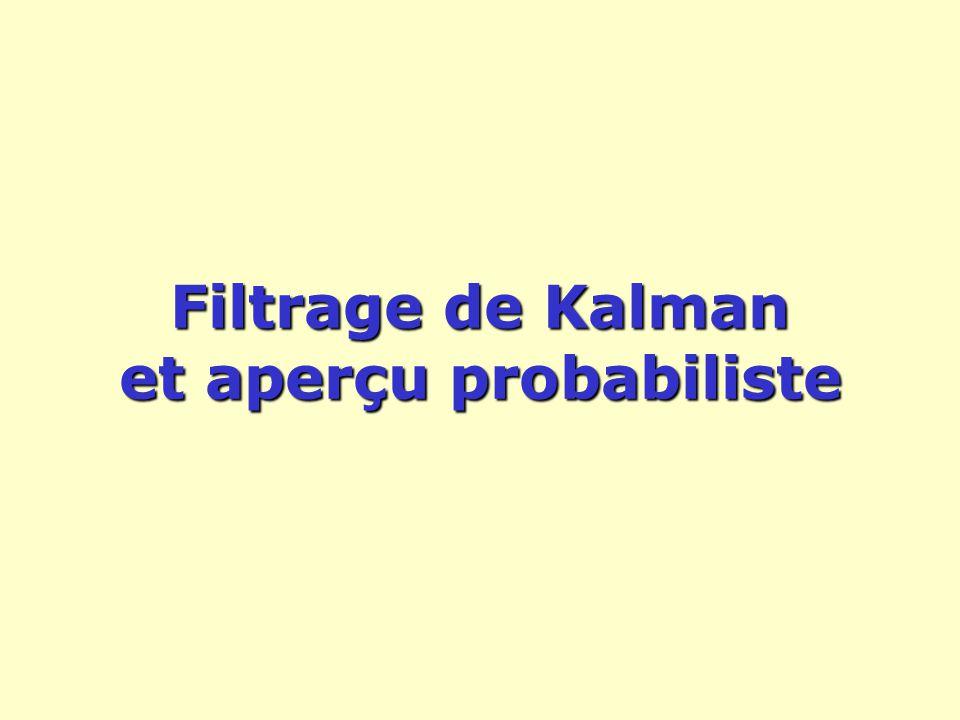 Filtrage de Kalman et aperçu probabiliste