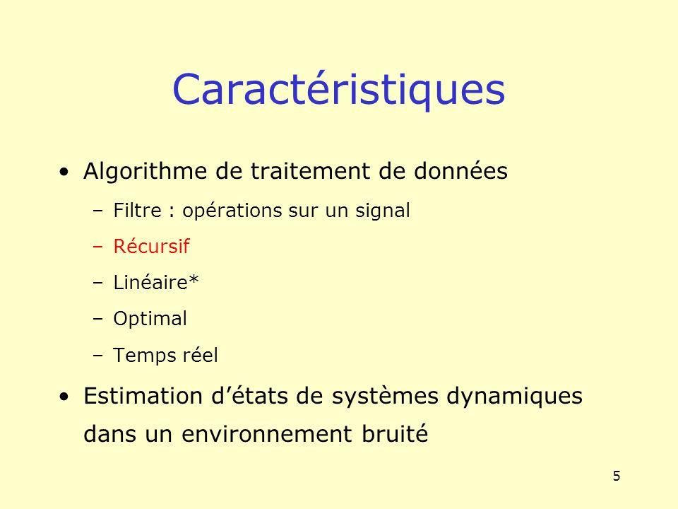 Caractéristiques Algorithme de traitement de données