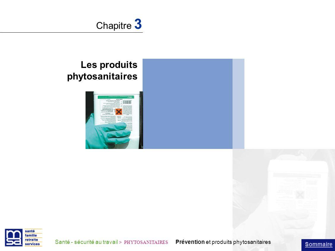 Chapitre 3 Les produits phytosanitaires
