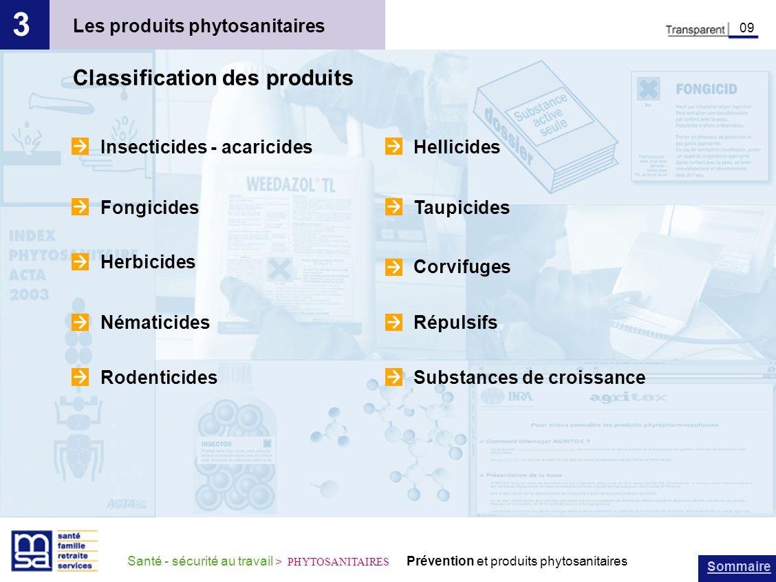 3 Classification des produits Les produits phytosanitaires