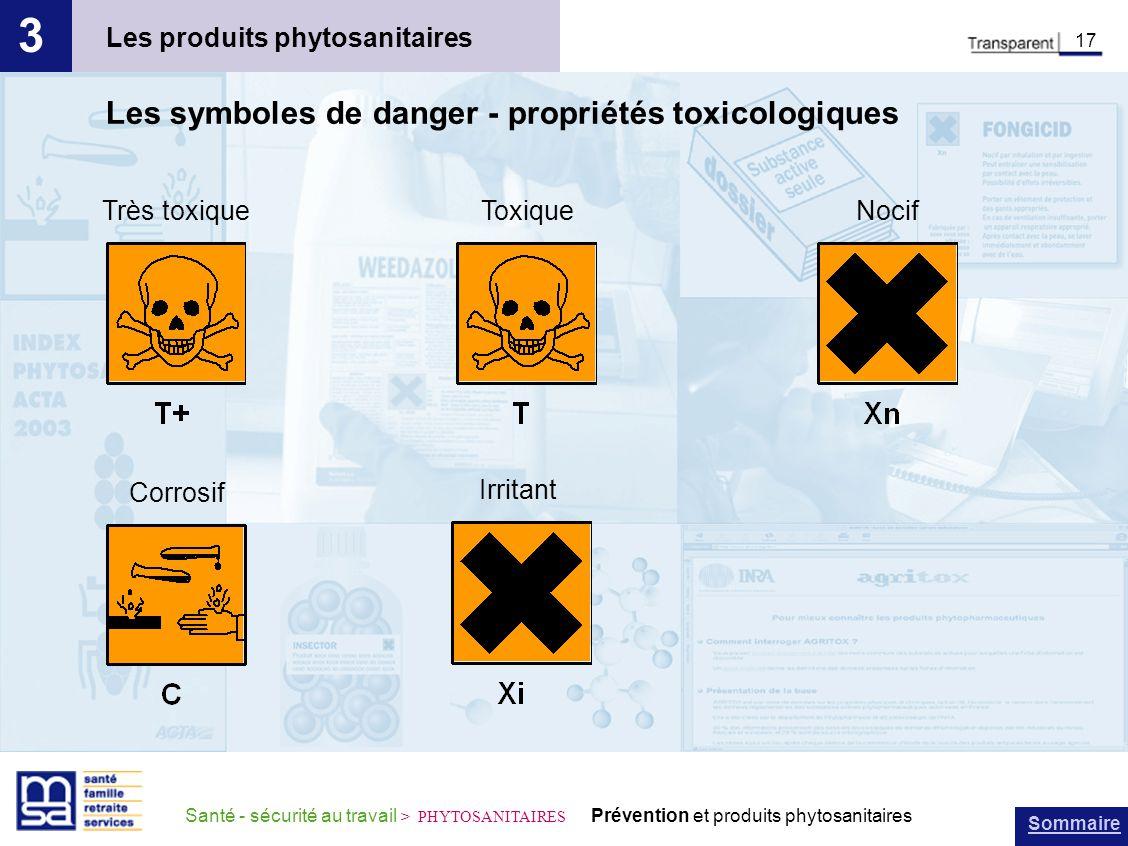 3 Les symboles de danger - propriétés toxicologiques