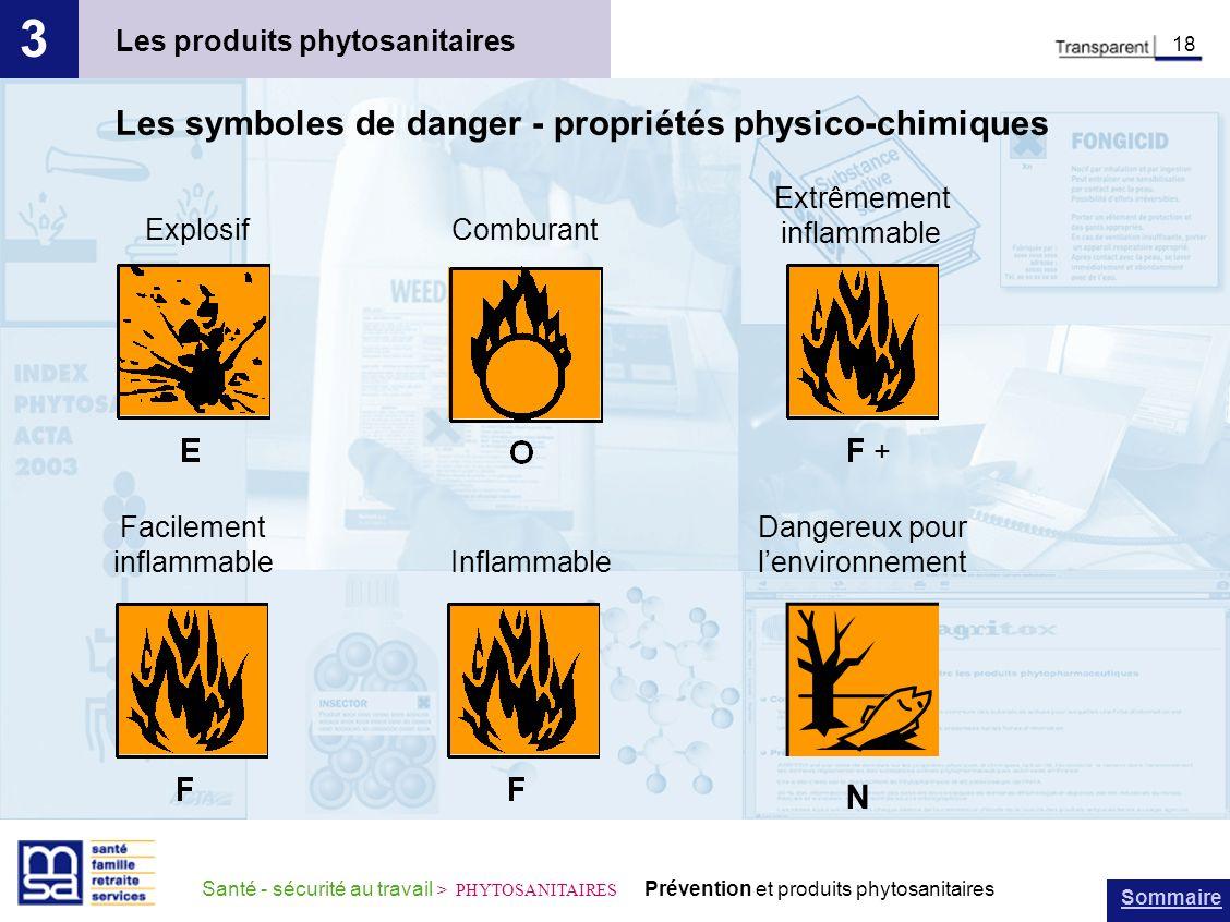 3 Les symboles de danger - propriétés physico-chimiques N