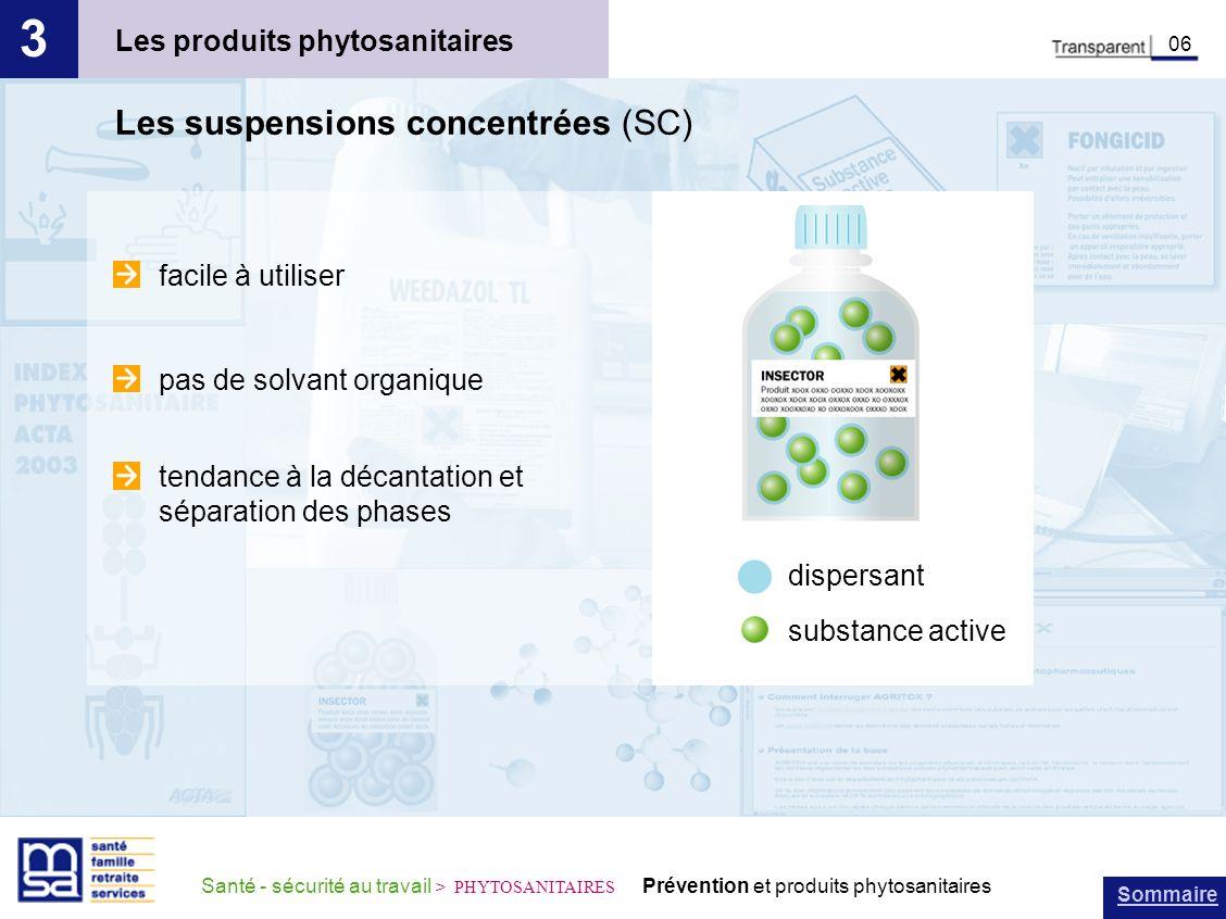 3 Les suspensions concentrées (SC) Les produits phytosanitaires