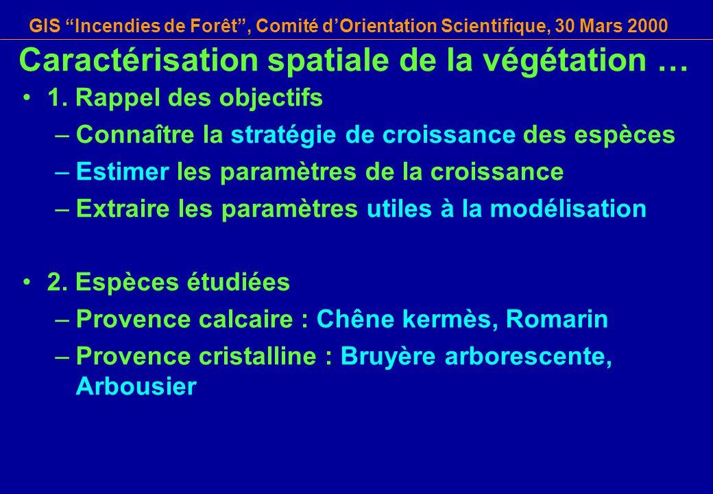 Caractérisation spatiale de la végétation …