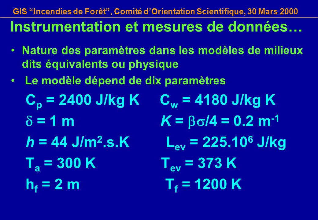 Instrumentation et mesures de données…