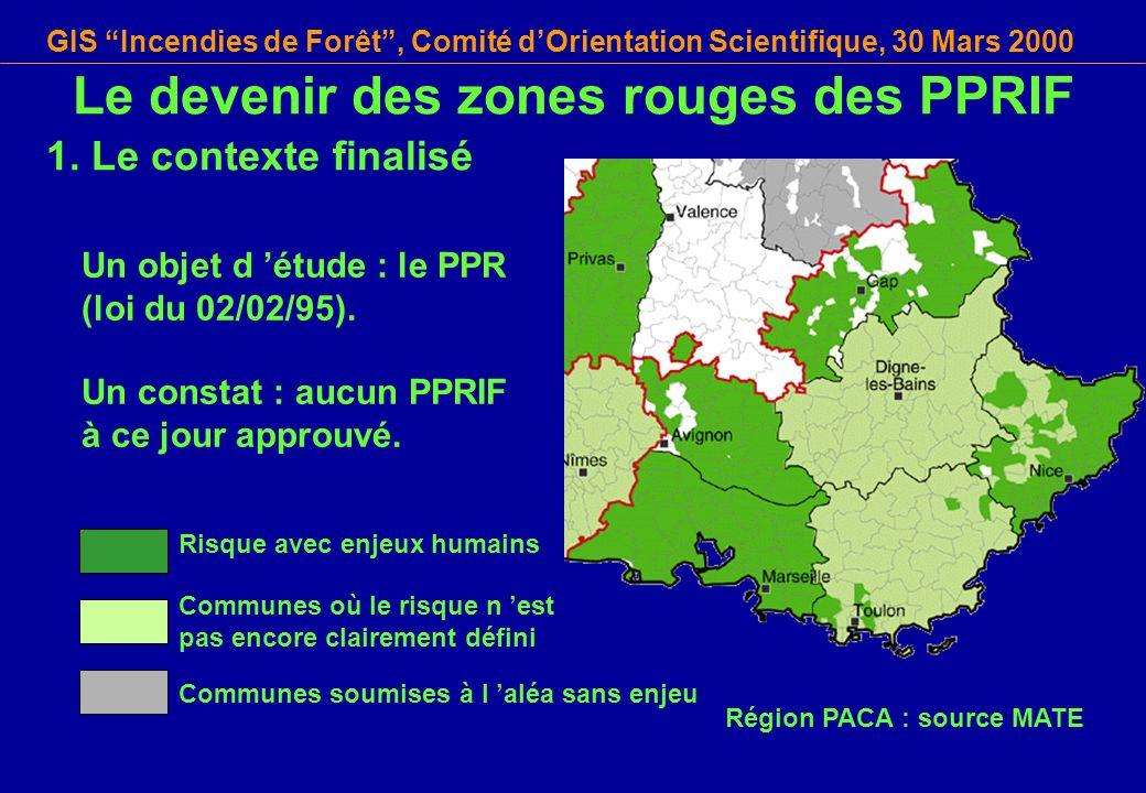 Le devenir des zones rouges des PPRIF