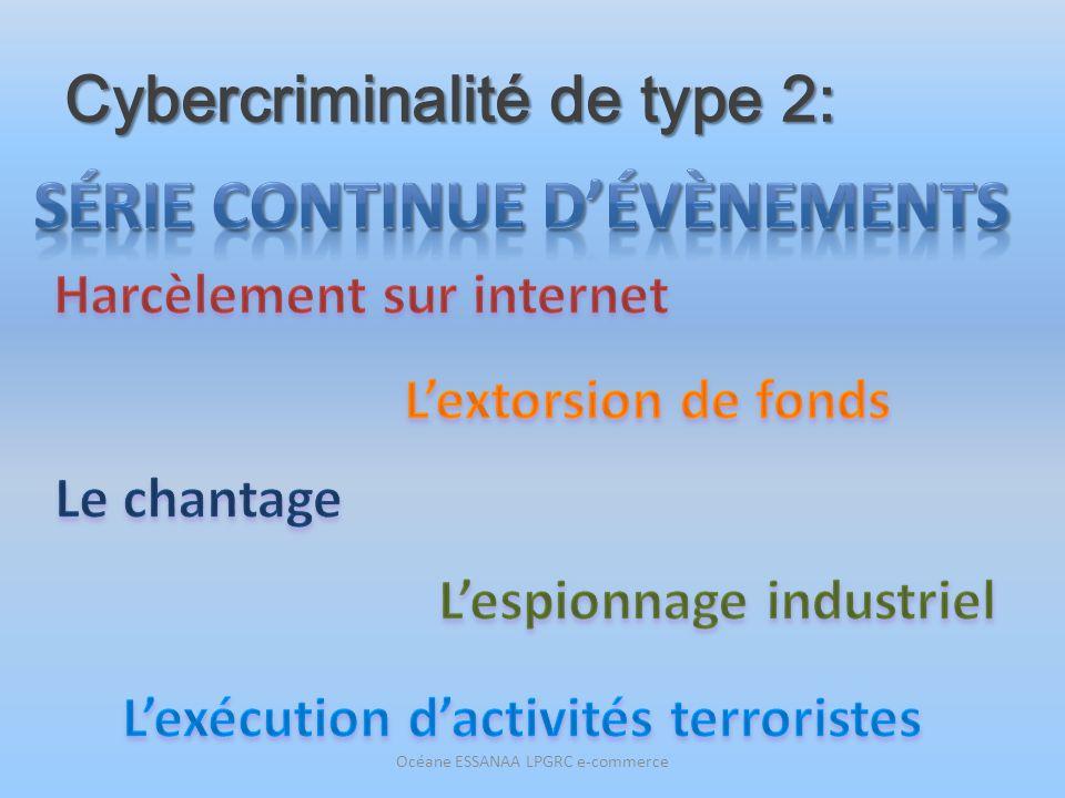 Cybercriminalité de type 2: