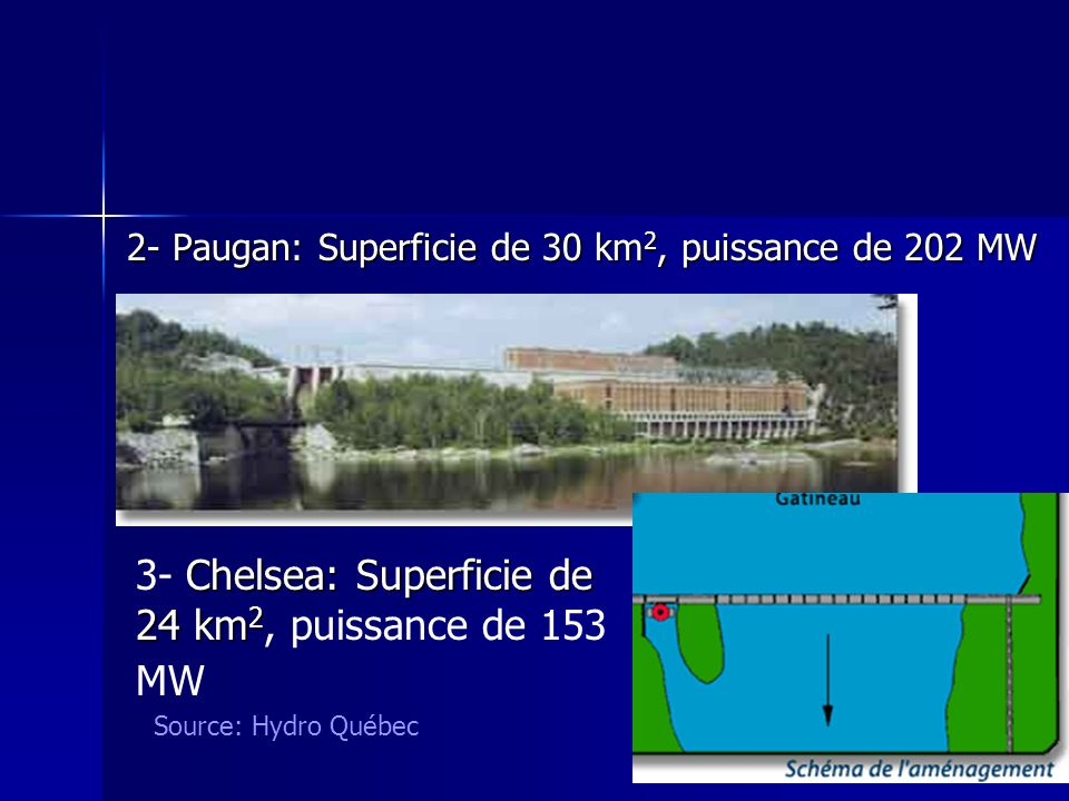3- Chelsea: Superficie de 24 km2, puissance de 153 MW