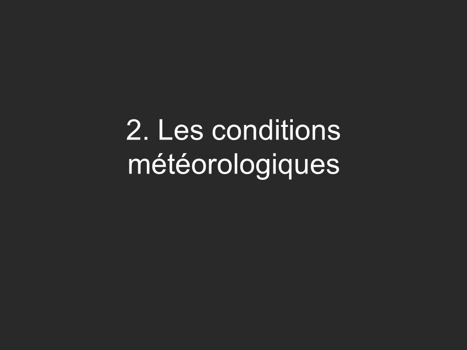 2. Les conditions météorologiques