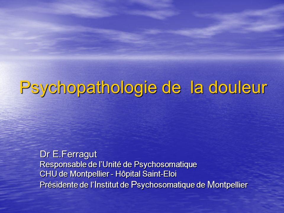 Psychopathologie de la douleur