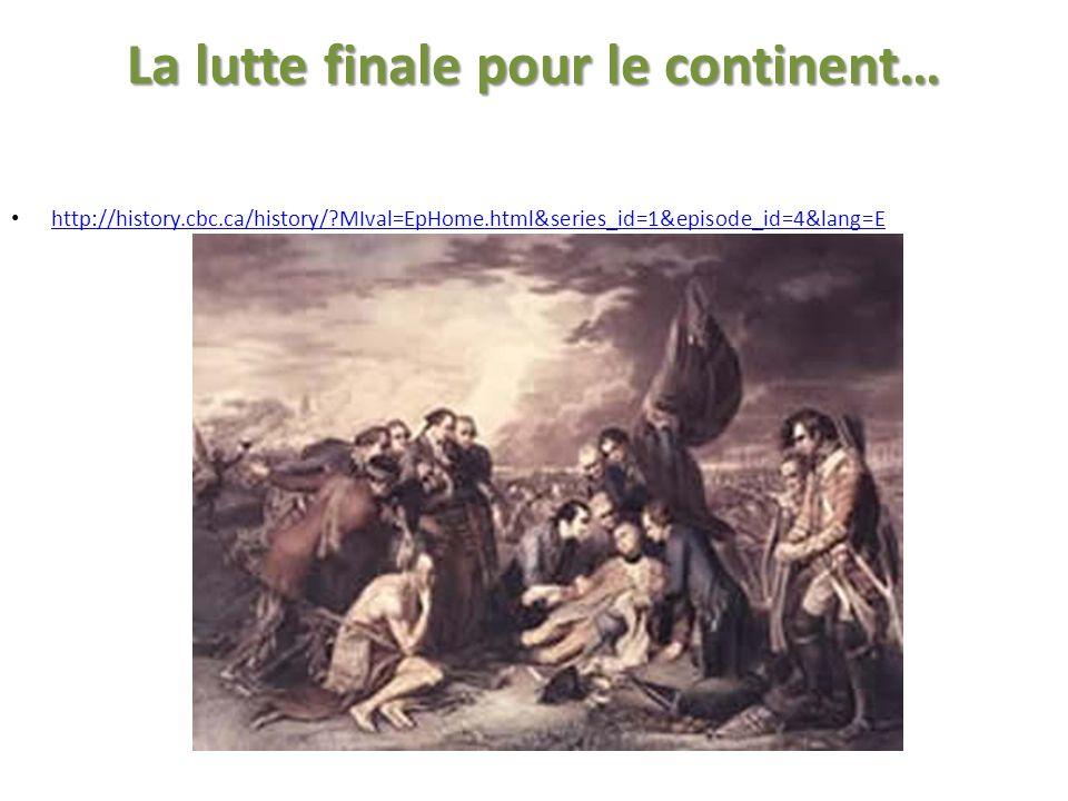 La lutte finale pour le continent…