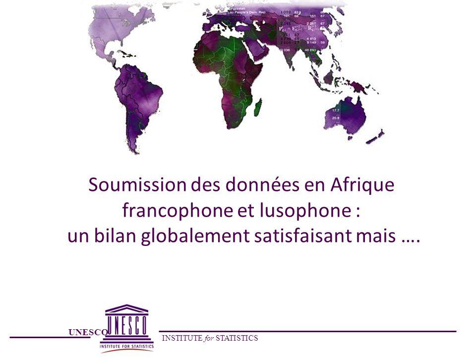 Soumission des données en Afrique francophone et lusophone : un bilan globalement satisfaisant mais ….