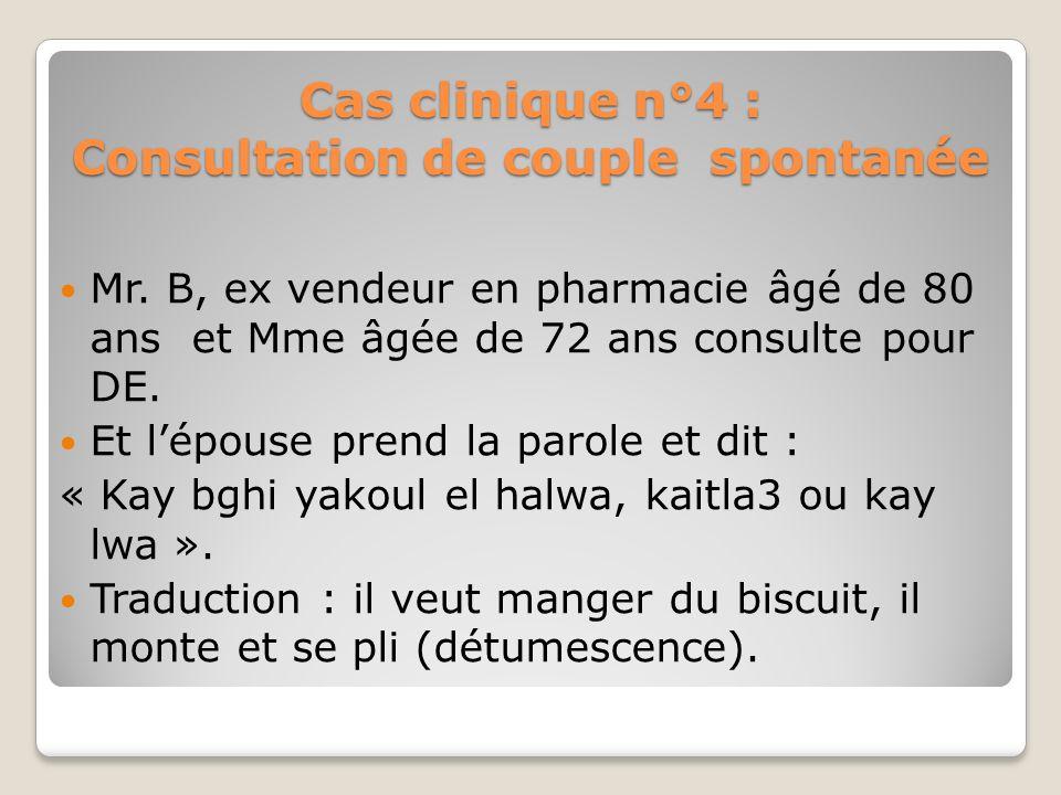 Cas clinique n°4 : Consultation de couple spontanée