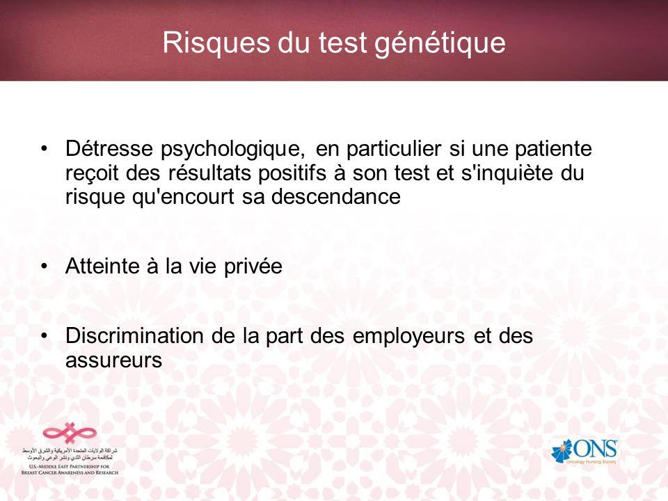 Risques du test génétique