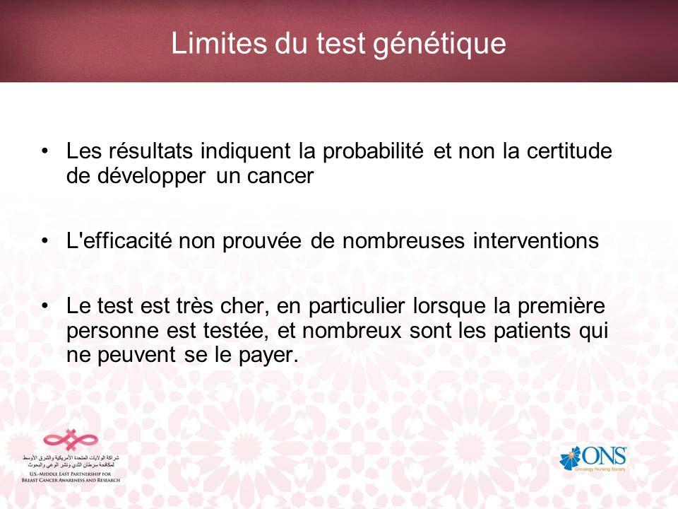 Limites du test génétique