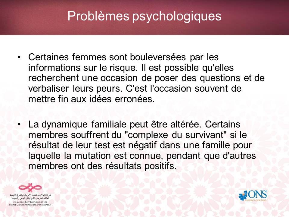 Problèmes psychologiques