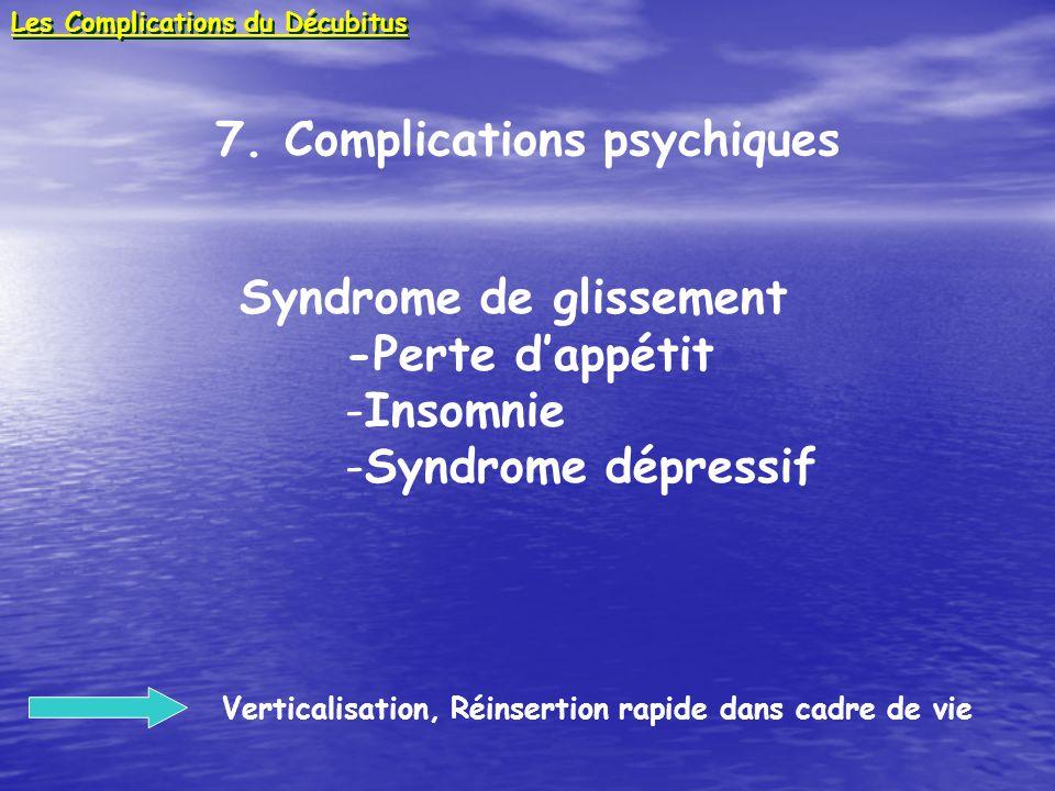 7. Complications psychiques