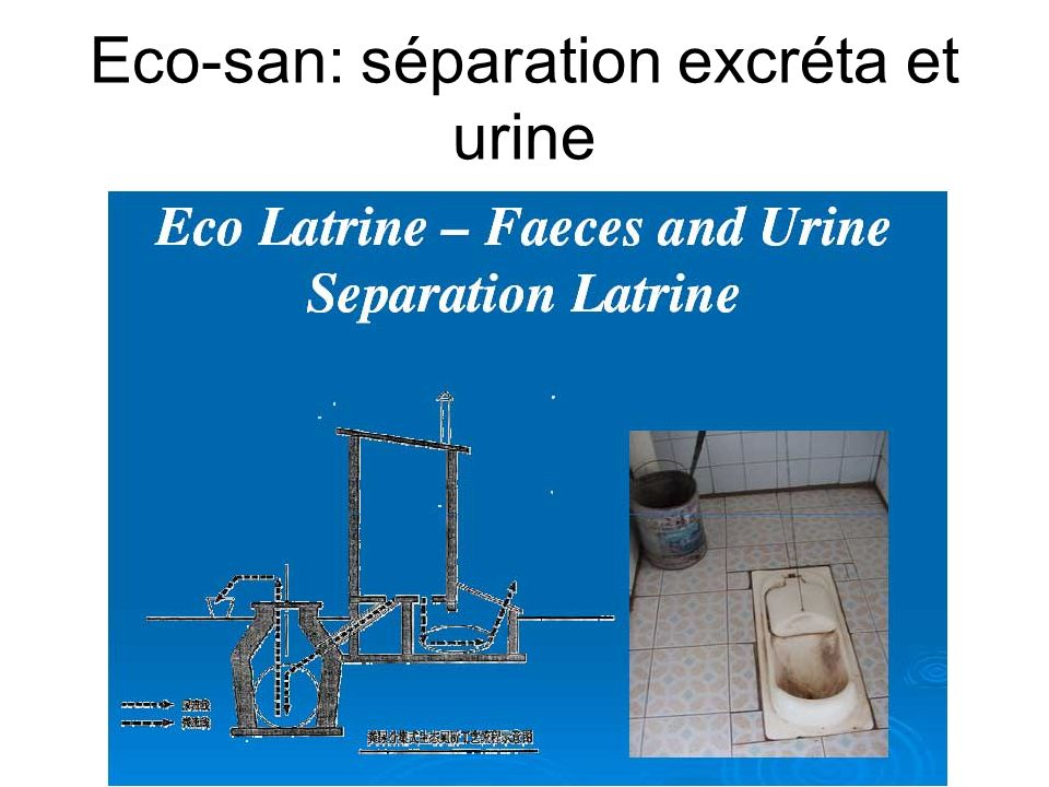Eco-san: séparation excréta et urine