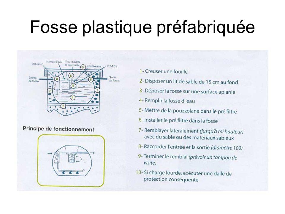 Fosse plastique préfabriquée