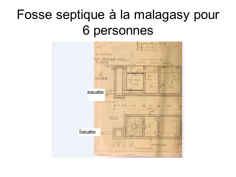 Fosse septique à la malagasy pour 6 personnes