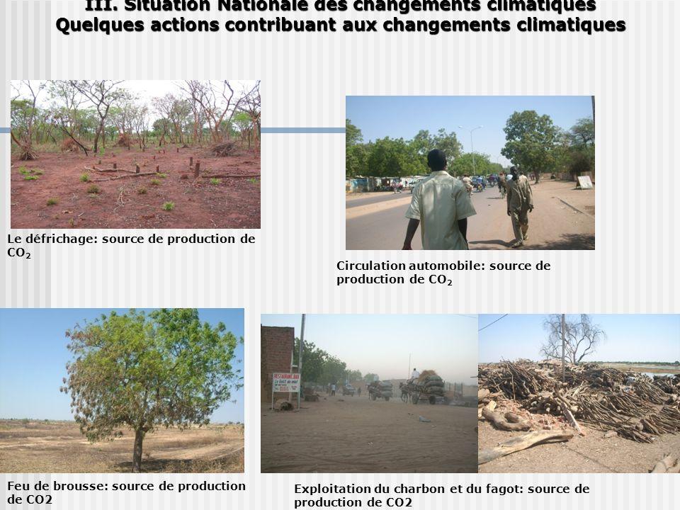 III. Situation Nationale des changements climatiques