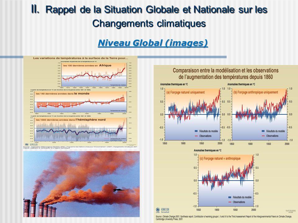 II. Rappel de la Situation Globale et Nationale sur les Changements climatiques