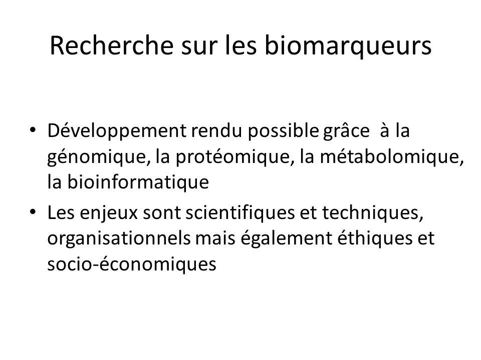 Recherche sur les biomarqueurs