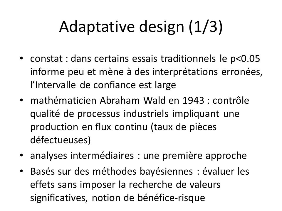 Adaptative design (1/3)