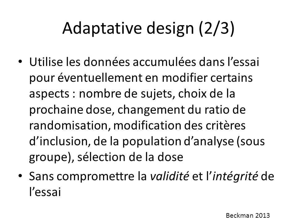 Adaptative design (2/3)