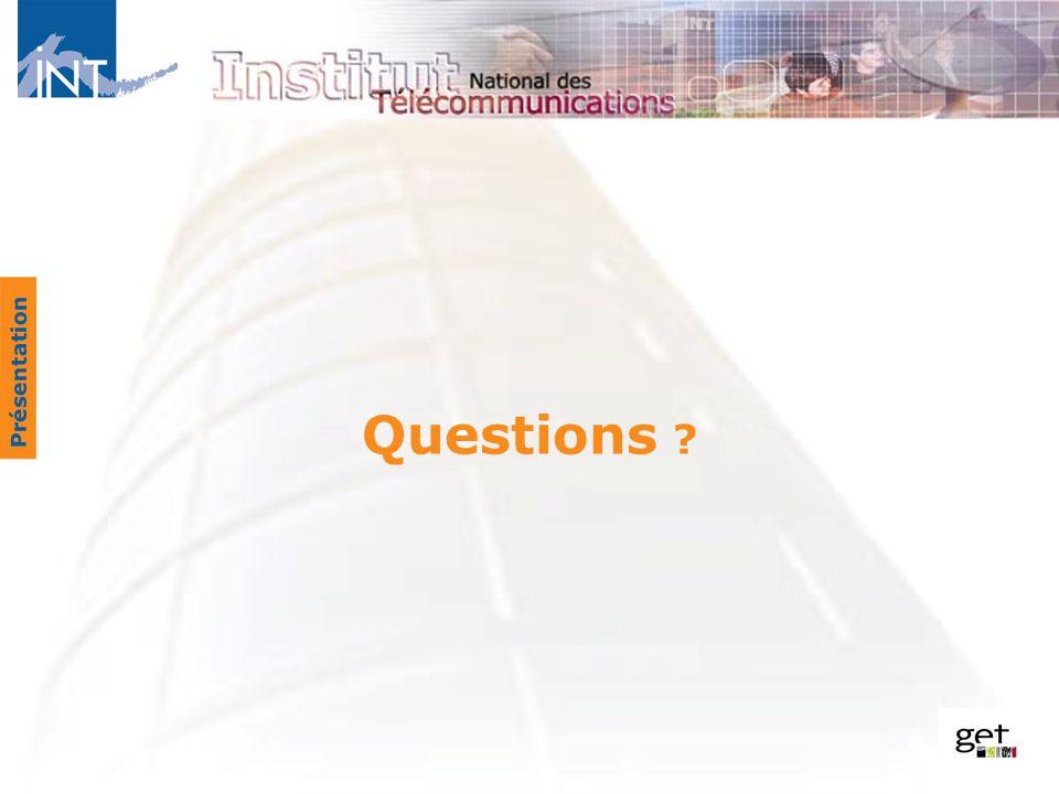 Présentation Questions